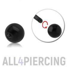 Микро шарик, чёрная сталь