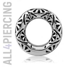 Сегментное кольцо с инкрустацией