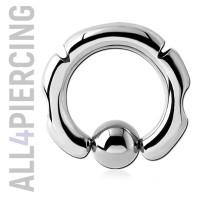 Инкрустированное кольцо с шариком BCS10