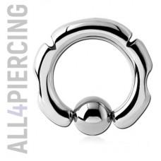 Инкрустированное кольцо с шариком|BCS10