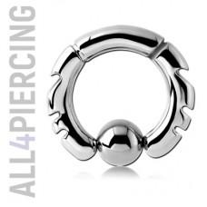 Инкрустированное кольцо с шариком|BCS12
