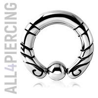 Инкрустированное кольцо с шариком BCS4