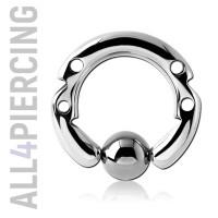 Инкрустированное кольцо с шариком BCS8