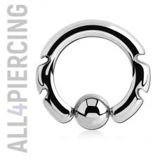 Инкрустированное кольцо с шариком|BCS9