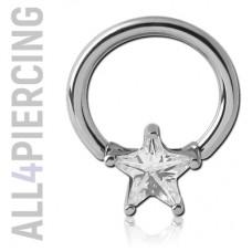Кольцо с кристаллом ЗВЕЗДОЧКА