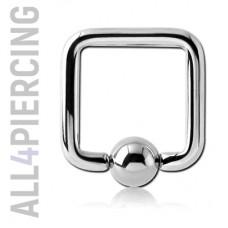 Квадратное кольцо с шариком