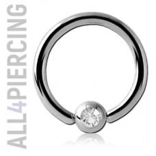 Кольцо с кристаллом, титан