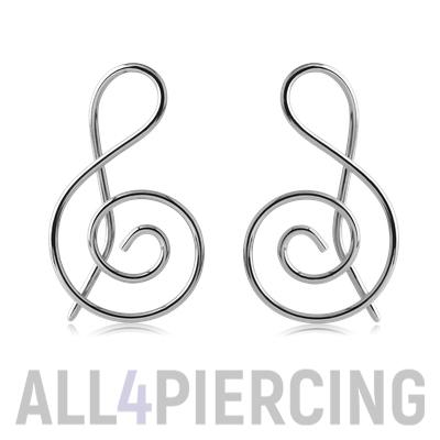 ПП-222-00 Серьга для пирсинга носа из платины | 400x400